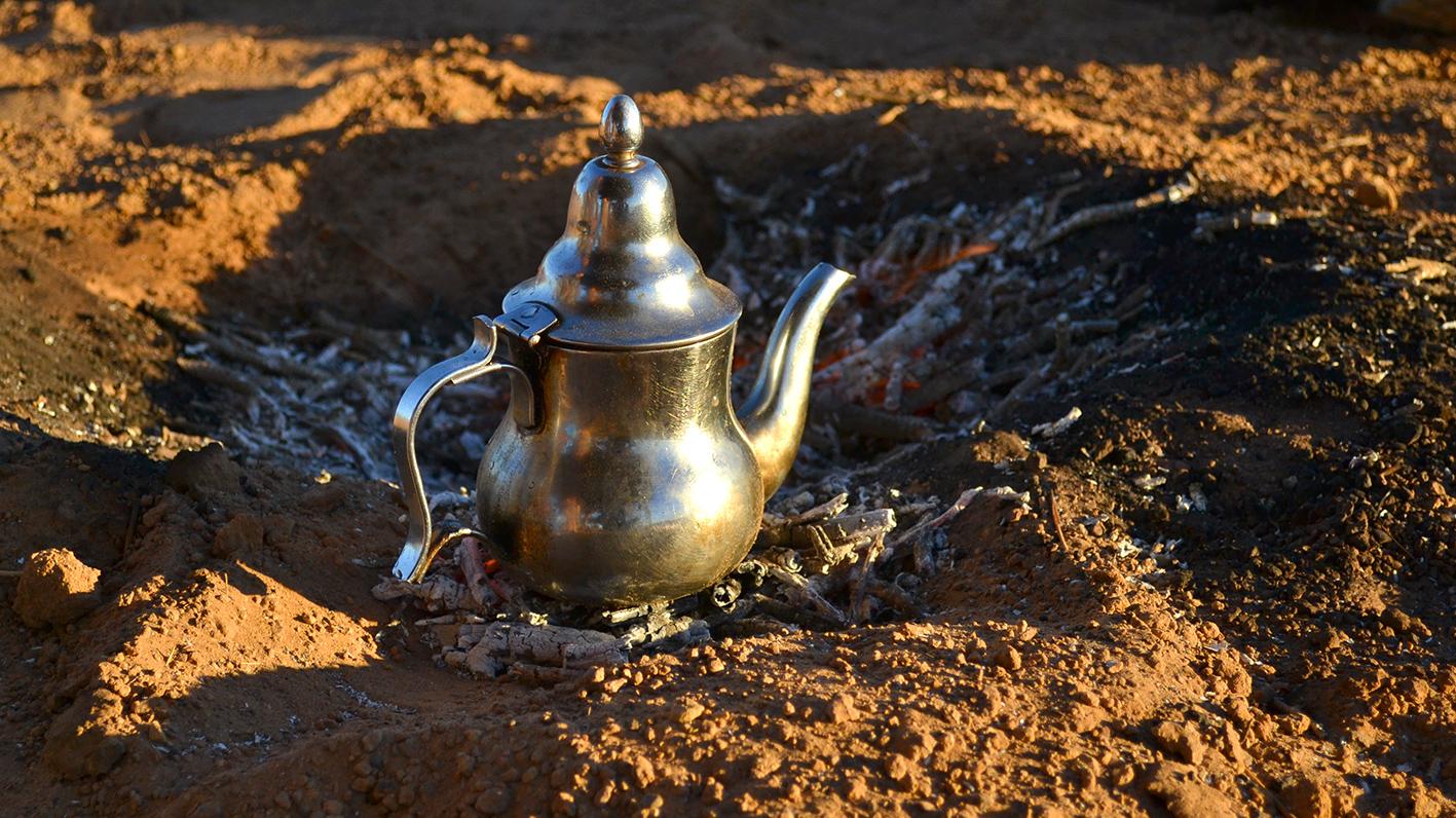 thé dans le désert